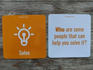 Solve: Who are some people that can help you solve it?